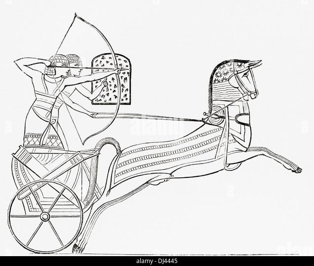 Egyptian war chariot. - Stock Image