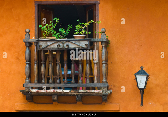 The architecture of  Cartagena de indias Colombia - Stock Image