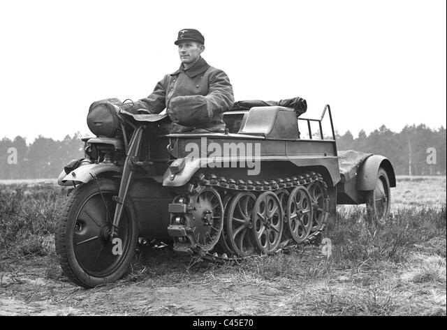 German Kettenkrad (half-track motorcycle) - Stock Image