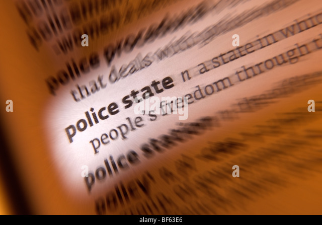 Concept - Police State - Stock Image