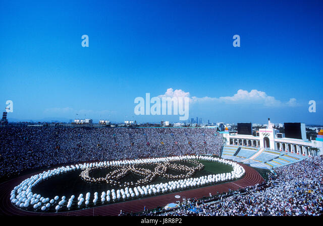 Opening ceremonies at the 1984 Olympic Summer Games, Los Angeles, CA - Stock-Bilder