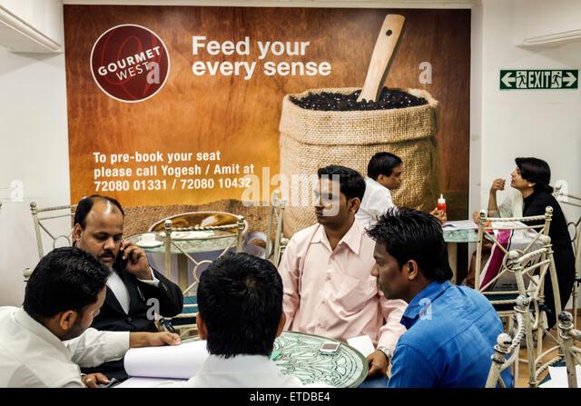 Mumbai India Indian Asian Fort Mumbai Mantralaya Mahatma Gandhi Road Westside department store inside shopping Gourmet - Stock Image