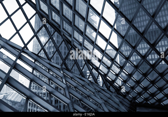Glass and steel building abstract. - Stock Image