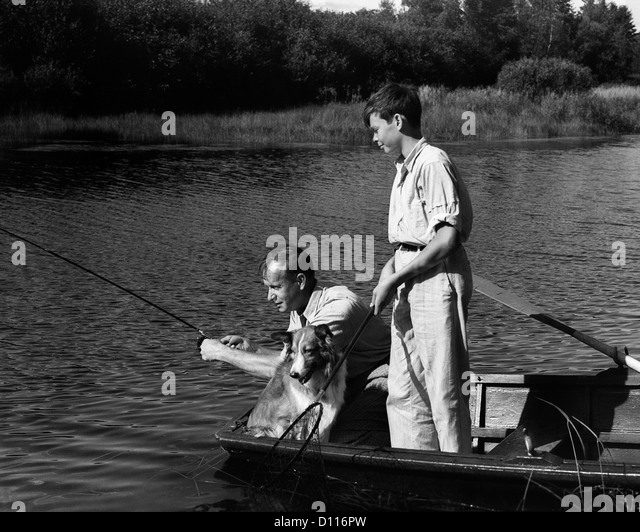 Vintage fishing children stock photos vintage fishing for Fishing row boats