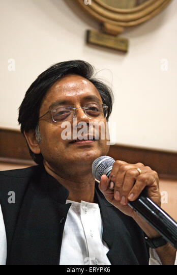 Shashi Tharoor minister of state for external affairs of India NO MR 22 April 2009 - Stock Image