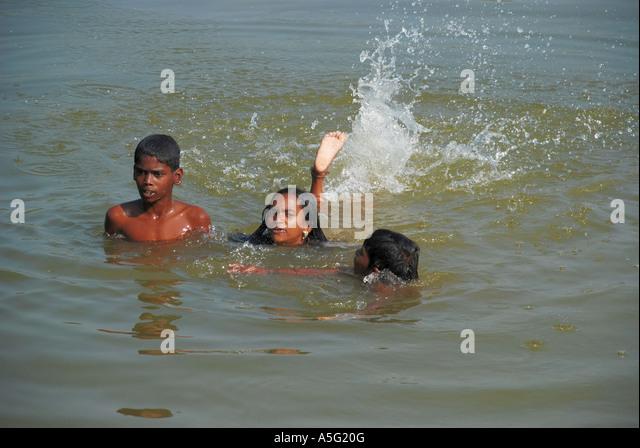 indian girl having nude bath