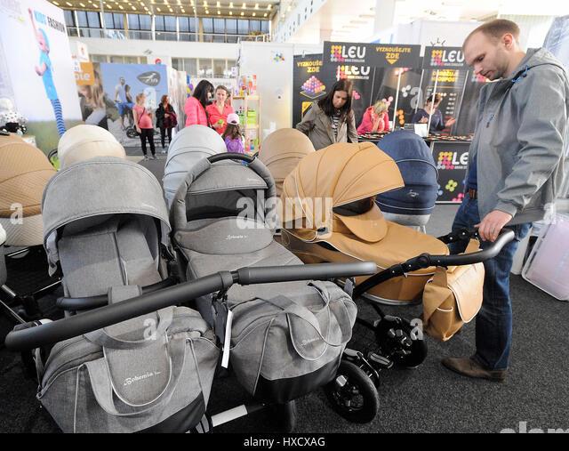 Brno, Czech Republic. 25th Mar, 2017. PRODITE Fair (Children goods exhibition) is the most important contracting - Stock-Bilder
