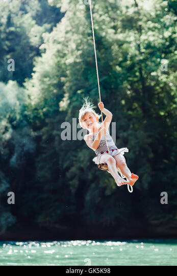 girl on swing above - photo #45
