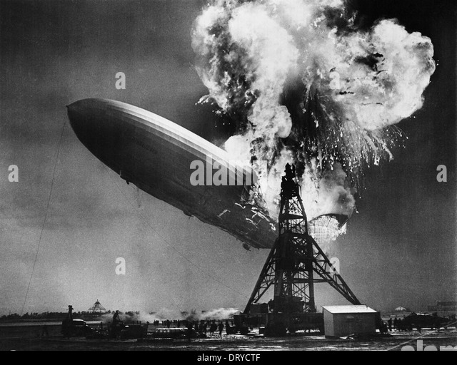Hindenburg disaster - Stock-Bilder