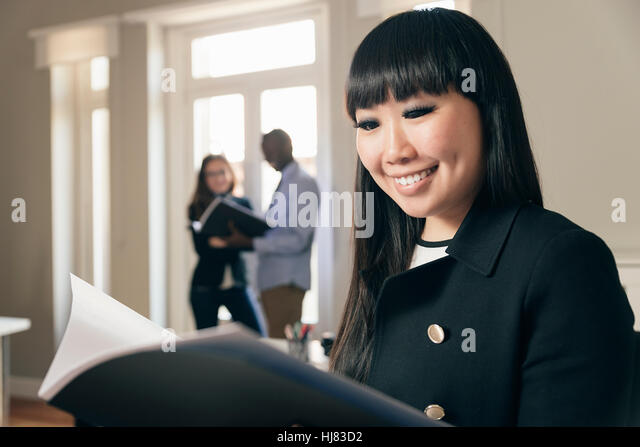 Young Entrepreneurs Working at the Office. - Stock Image