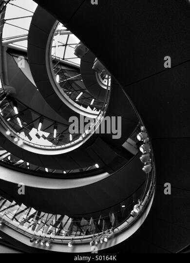 Interior of city hall London - Stock Image