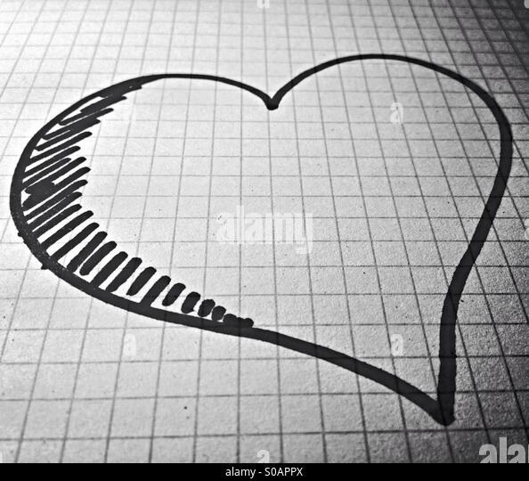 Love on paper - Stock-Bilder