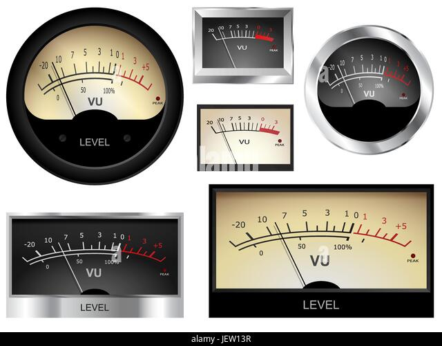 Volume Level Meter : Vu meter stock photos images alamy
