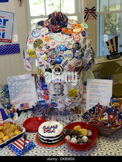 Political memorabilia at Camp USA, a two week non-partisan camp for middle and high school students interested in - Stock Image
