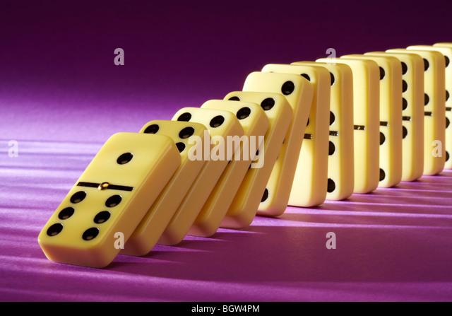 Row of Dominos - Stock Image
