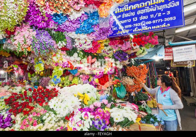 Flower Market Bangkok Stock Photos & Flower Display Flower Market ...