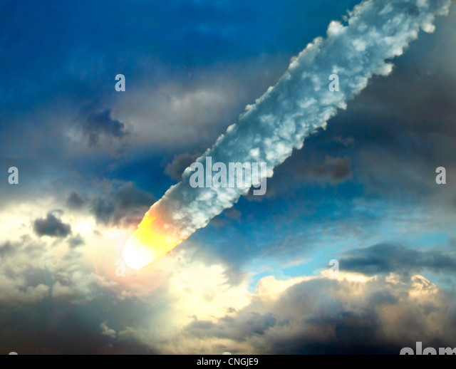 Meteor in the Earth's atmosphere  artwork - Stock Image