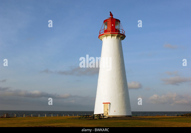 lighthouse Point prime coast sea Prince Edward Island maritime Canada - Stock Image
