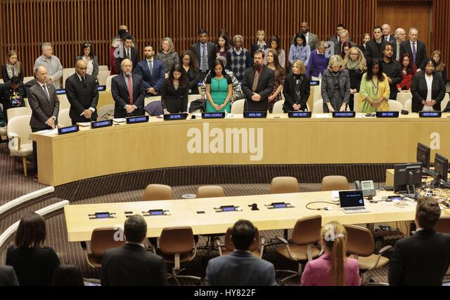 United Nations, New York, USA, 31 March 2017 - Sofia Lachapelle along with Hundreds of guests participated on a - Stock Image
