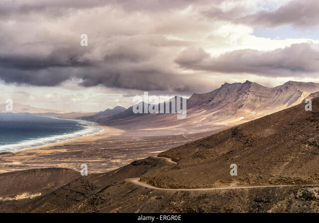 Parque Natural Jandia, Cofete Beach, Fuerteventura, Spain - Stock Image