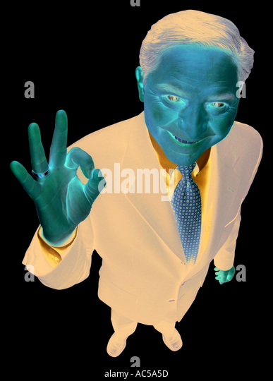 Business Business man with OK sign jpg man with OK sign jpg People Work men guy person working - Stock Image