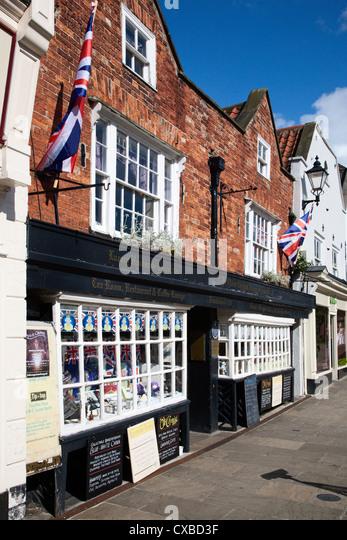 The Oldest Chemist Shop and Lavender Tea Rooms, Knaresborough, North Yorkshire, Yorkshire, England, United Kingdom, - Stock Image