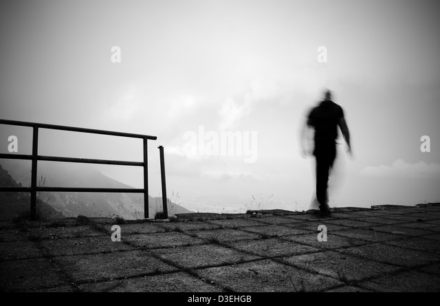Man jumping into the void - Stock-Bilder