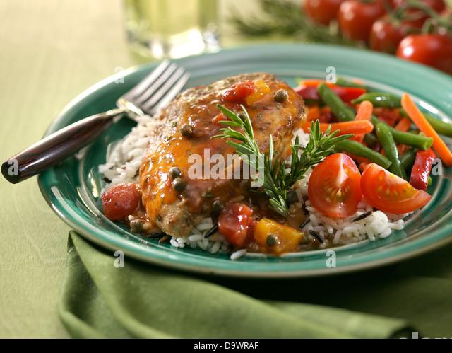 rosemary chicken - Stock Image