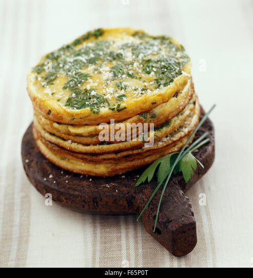 Omelette cakes( topic : in the open air) - Stock Image