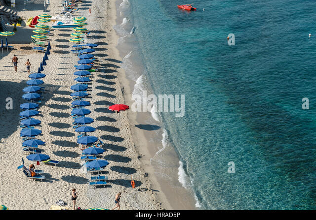 A beach in Tropea, Calabria region, Italy - Stock Image