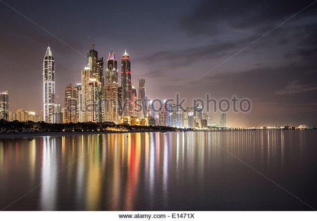 Dubai marina bay stock photos dubai marina bay stock for Luxury hotels in dubai marina