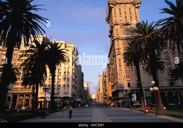 Uruguay Montevideo Independence Plaza - Stock Image