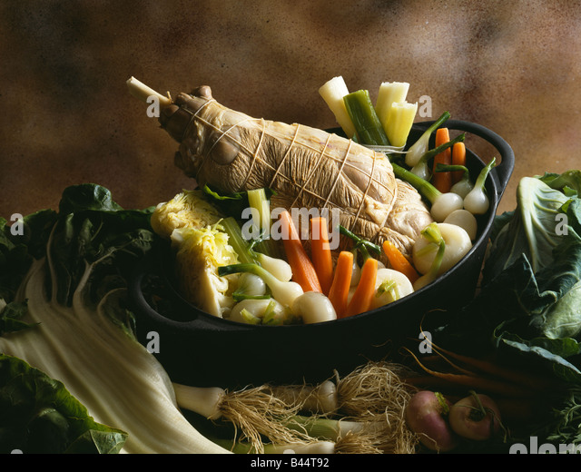 mutton and baby vegetable stew - Stock Image