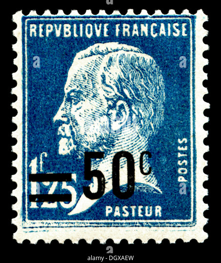 France postage stamp depicting Louis Pasteur - Stock Image