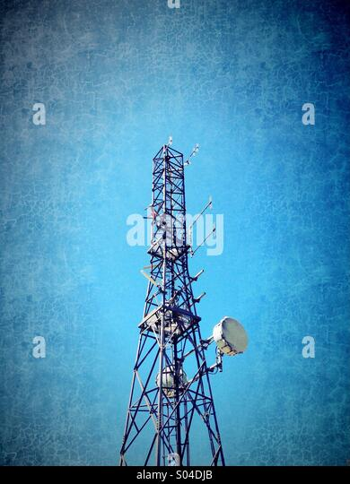 Communications mast - Stock-Bilder