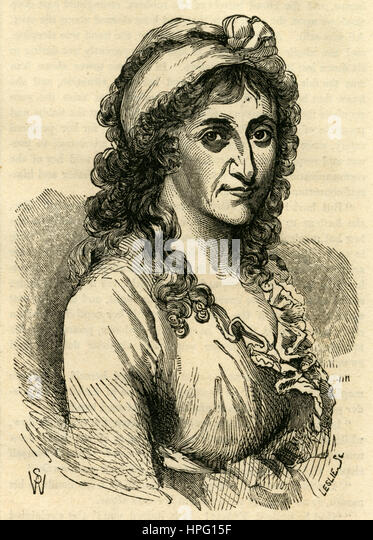 Antique 1854 engraving, Countess Rumford. Sarah Thompson, Countess Rumford, (1774-1852) was a philanthropist. She - Stock Image