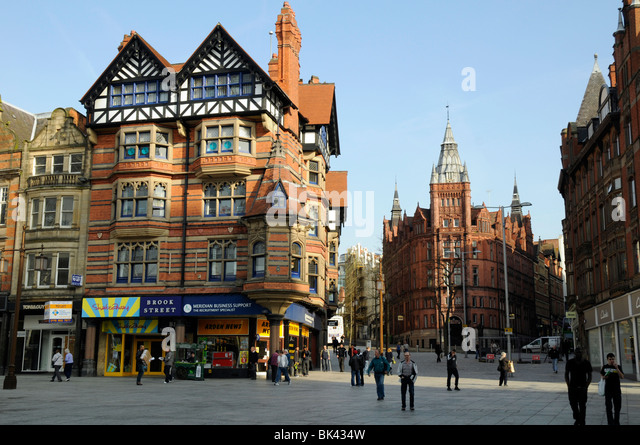Queens Chambers building by Watson Fothergill (1897), Market Square, Nottingham, England, UK. Prudential building - Stock Image