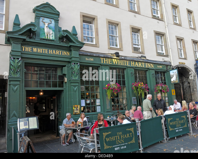White Hart Inn Grassmarket Edinburgh Scotland UK - Stock Image