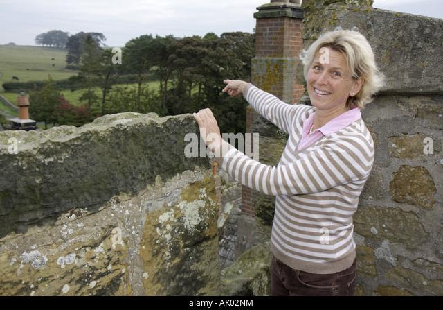 England UK Colridge Halton Castle 1382 pele tower Lady Anna Blackett - Stock Image