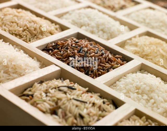 Selection Of Rices - Stock Image