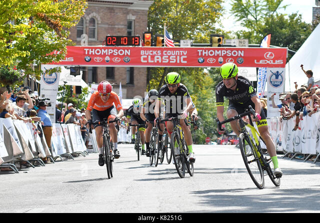 Oscar Clarck, with Holowesko/Citadel, Samantha Schneider, with ISCorp win the   2017 edition of the Bucks County - Stock Image