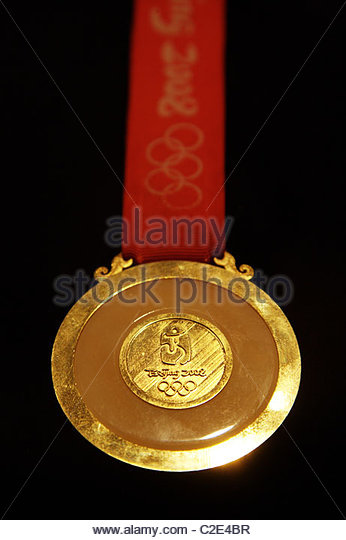 Close up of an Olympic Gold-Medal - Stock Image