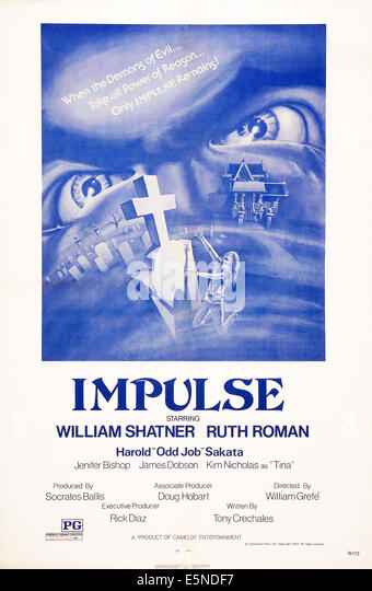 IMPULSE, US poster art, 1974 - Stock Image