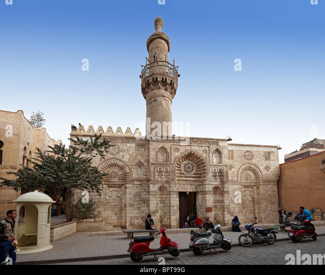 Al Akmar Mosque, islamic Cairo, Egypt, Africa - Stock Image