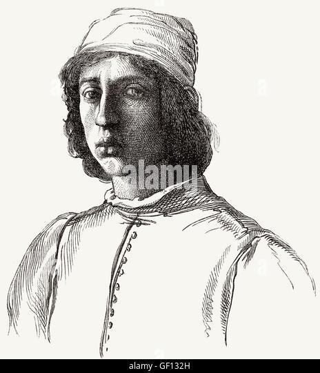 Fra' Filippo Lippi, or Lippo Lippi, 1406-1469, an Italian painter - Stock-Bilder