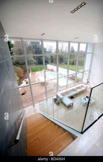 THE BLUE HOUSE IN SNEYD PARK BRISTOL AS FEATURED IN CHANNEL FOUR S GRAND DESIGNS UK - Stock Image