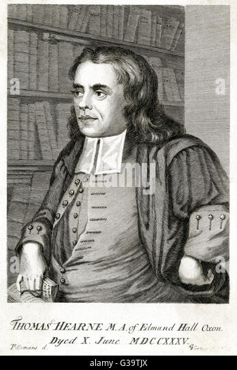 THOMAS HEARNE  English historian and antiquarian       Date: 1678 - 1735 - Stock-Bilder
