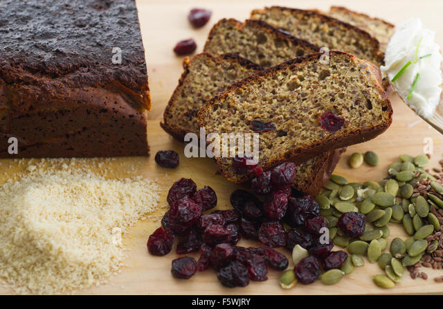 Freshly baked homemade gluten free bread. - Stock Image