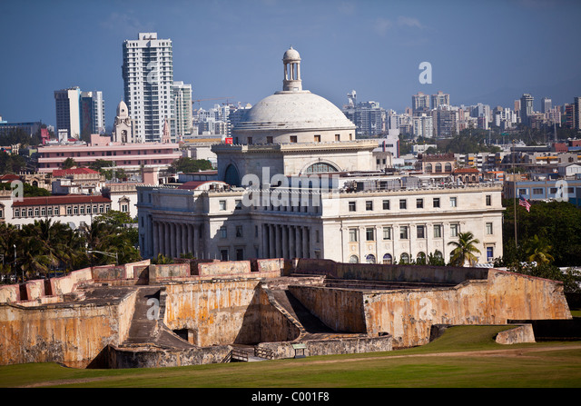 Capitol of Puerto Rico in San Juan, Puerto Rico. - Stock Image