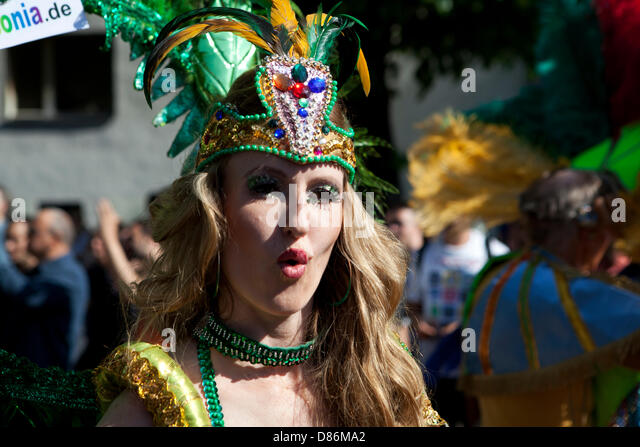 Berlin, Germany. 19th May 2013. Karneval der Kulturen - Annual Carnival and street party in Germany's Capital - Stock-Bilder